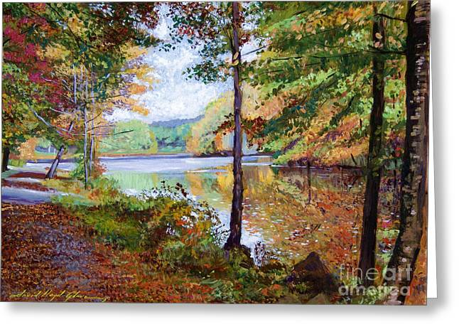 Walkway Greeting Cards - Autumn at Rockefeller Park  Greeting Card by David Lloyd Glover