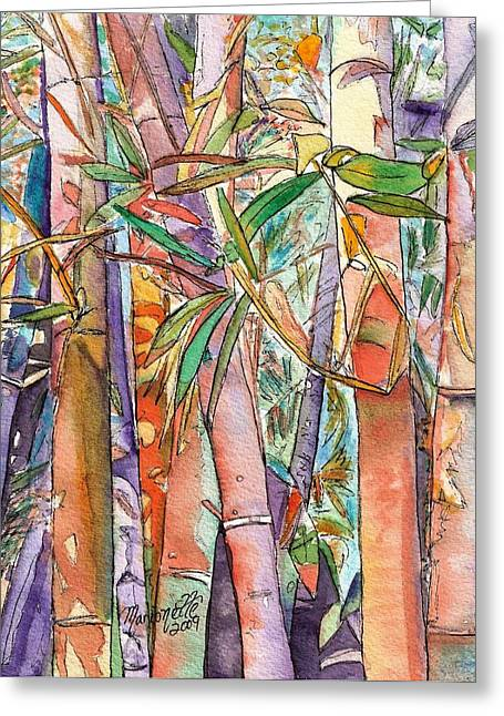 Best Sellers -  - Patch Greeting Cards - Autumn Bamboo Greeting Card by Marionette Taboniar