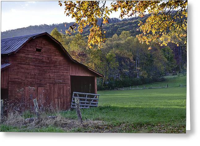 Red Barn Prints Greeting Cards - Autumn Barn Greeting Card by Rob Travis