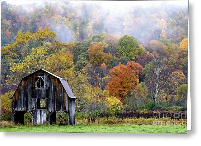 Nicholas Greeting Cards - Autumn Barn Greeting Card by Thomas R Fletcher