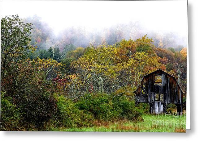 Nicholas Greeting Cards - Autumn Barn Tioga Road Greeting Card by Thomas R Fletcher
