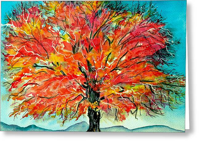 Fallscape Greeting Cards - Autumn Beauty Greeting Card by Brenda Owen