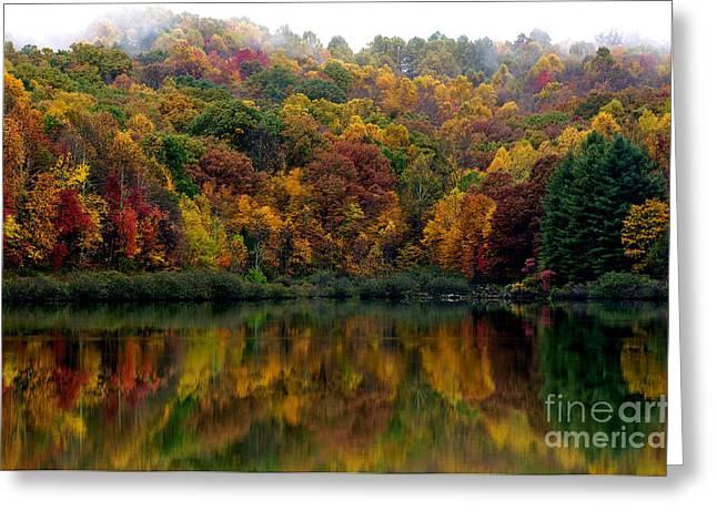 Allegheny Greeting Cards - Autumn Big Ditch Lake Greeting Card by Thomas R Fletcher