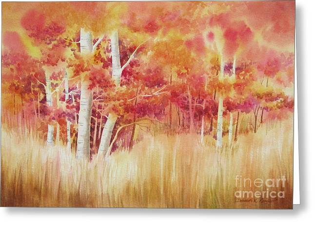 Autumn Landscape Paintings Greeting Cards - Autumn Blaze Greeting Card by Deborah Ronglien