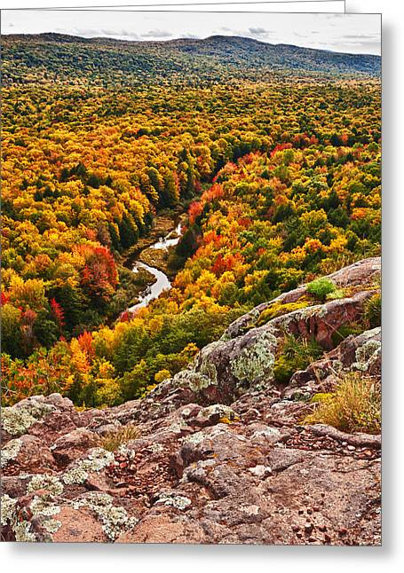 Silver City Greeting Cards - Autumn Blaze Greeting Card by James Marvin Phelps
