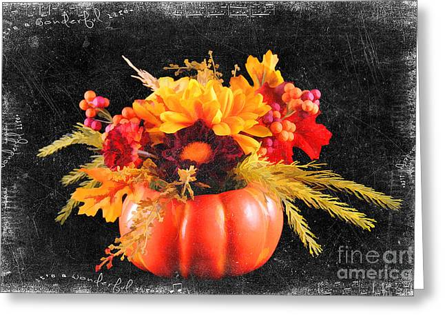 Centerpiece Greeting Cards - Autumn Bouquet Greeting Card by Darren Fisher