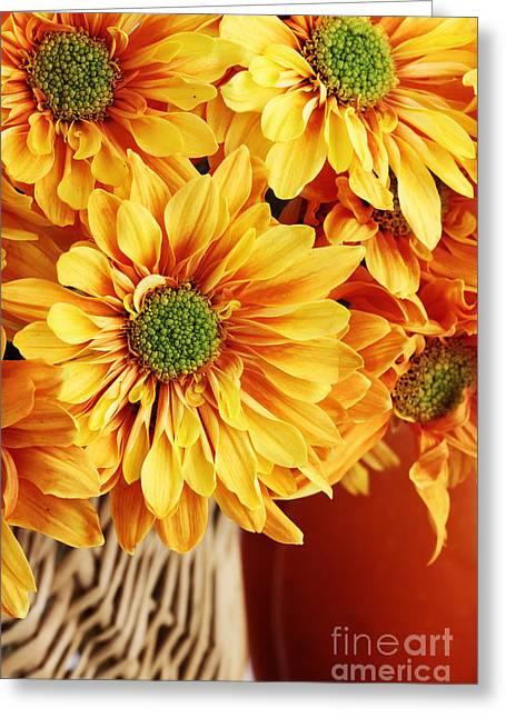 Warm Tones Greeting Cards - Autumn Bouquet Greeting Card by Stephanie Frey