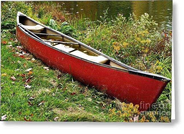 Autumn Canoe Greeting Card by Thomas R Fletcher