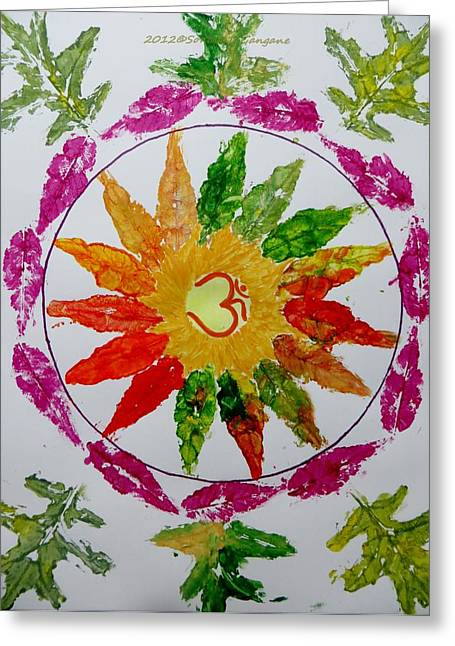 Inner Self Paintings Greeting Cards - Autumn Chakra Greeting Card by Sonali Gangane