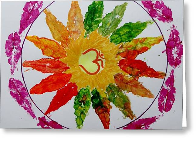 Autumn Chakra Greeting Card by Sonali Gangane