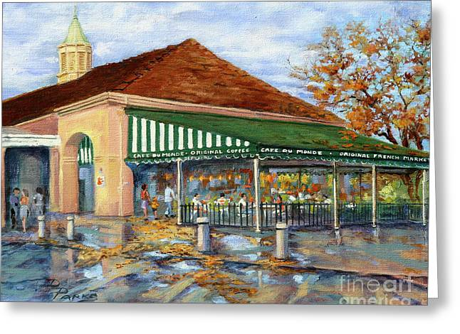 Royal Art Paintings Greeting Cards - Autumn Coffee Greeting Card by Dianne Parks