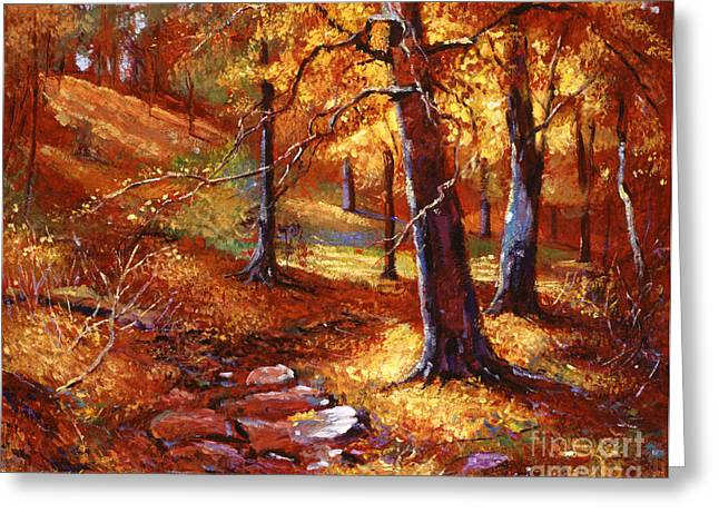 Autumn Landscape Paintings Greeting Cards - Autumn Color Palette Greeting Card by David Lloyd Glover