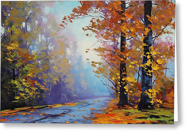 Autumn Landscape Paintings Greeting Cards - Autumn Colours Greeting Card by Graham Gercken