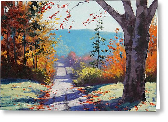 Fall Trees Greeting Cards - Autumn Delight Greeting Card by Graham Gercken