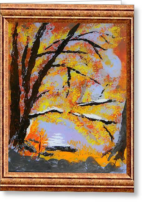 Autumn Dreaming  Greeting Card by Warren Thompson