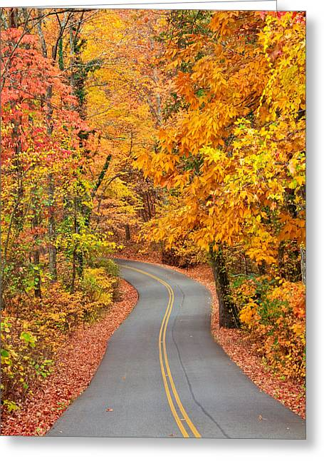 Tom And Pat Cory Greeting Cards - Autumn Drive Signal Mountain Greeting Card by Tom and Pat Cory
