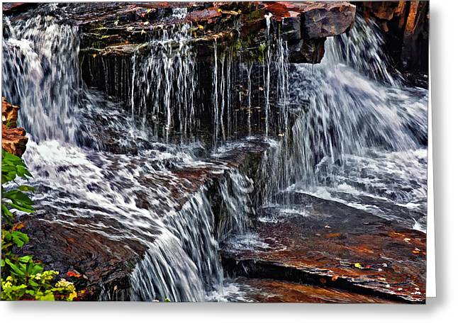 Ledge Greeting Cards - Autumn Falls 3 Greeting Card by Steve Harrington