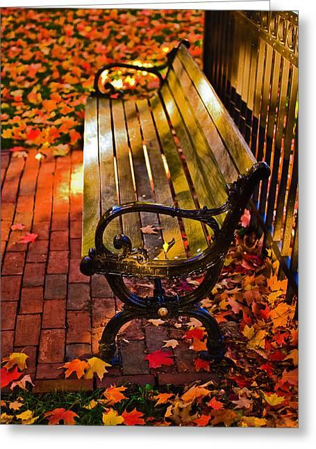 Boston Ma Greeting Cards - Autumn fever Greeting Card by Ludmila Nayvelt