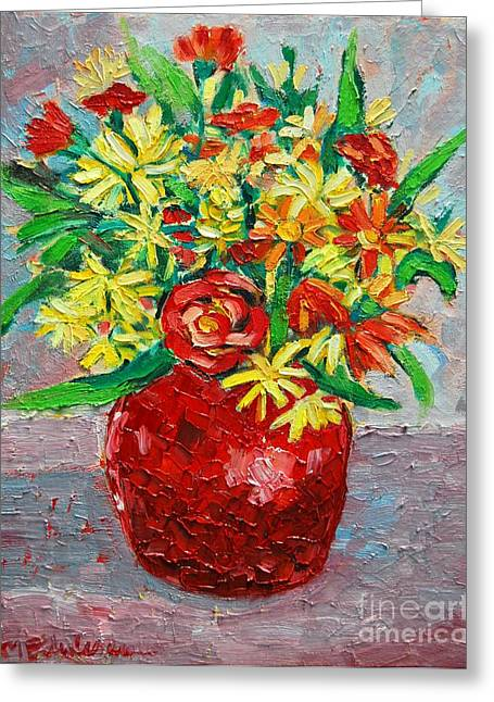 Sienna Greeting Cards - Autumn Flowers 3 Greeting Card by Ana Maria Edulescu