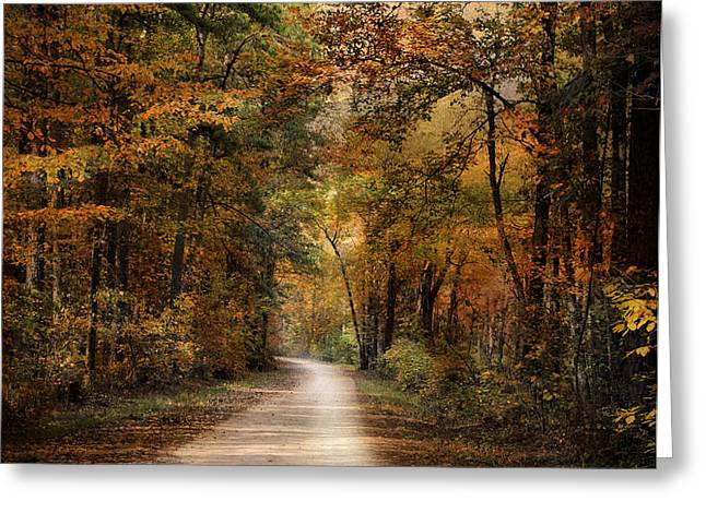 Autumn Forest 3 Greeting Card by Jai Johnson