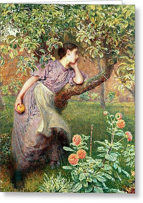 Apron Greeting Cards - Autumn Greeting Card by Frederick Walker