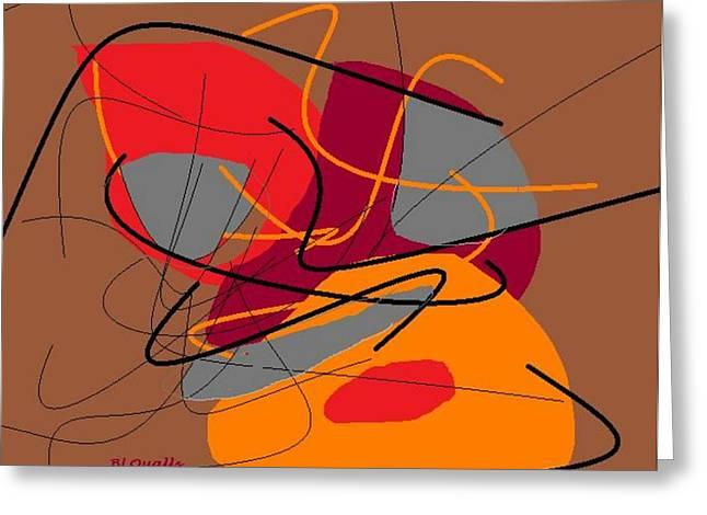 B L Qualls Greeting Cards - Autumn Frenzy Greeting Card by B L Qualls
