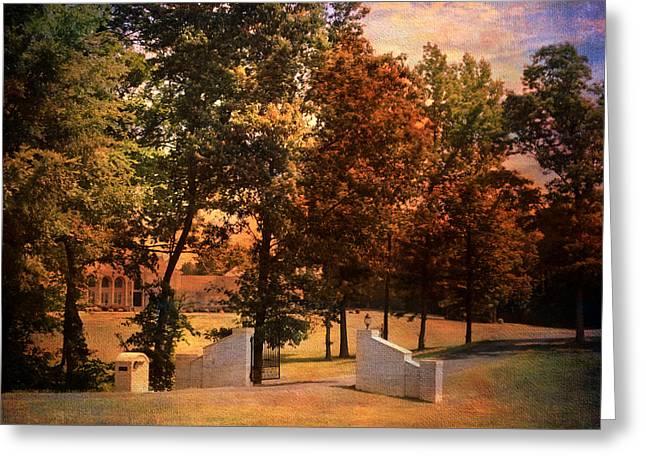 Autumn Gate Greeting Card by Jai Johnson