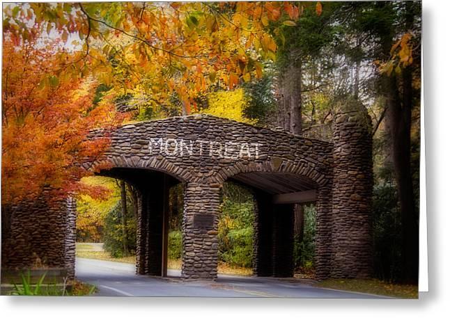 Autumn Gate Greeting Card by Joye Ardyn Durham