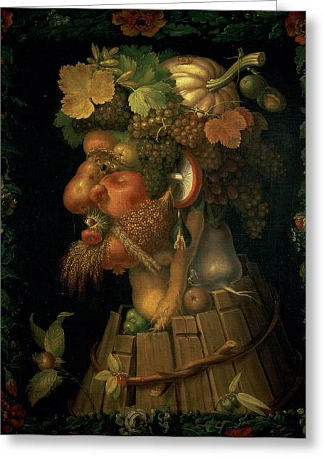 Allegories Greeting Cards - Autumn Greeting Card by Giuseppe Arcimboldo