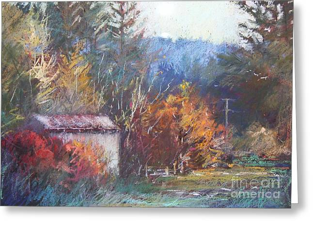 Sheds Pastels Greeting Cards - Autumn Glory Greeting Card by Pamela Pretty