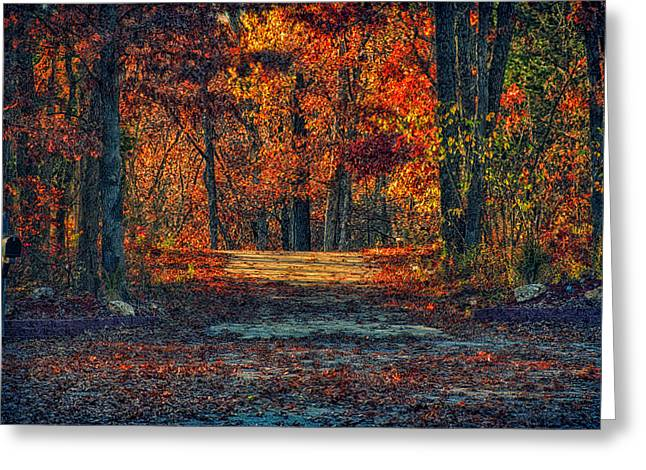 New Melle Greeting Cards - Autumn Has Arrived Greeting Card by Bill Tiepelman