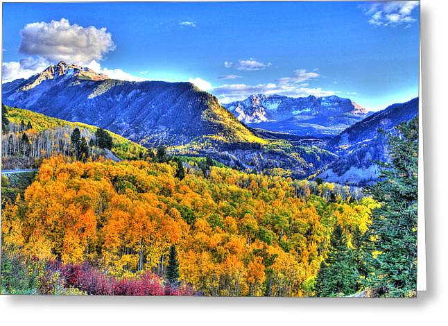 Western Western Art Greeting Cards - Autumn Highway Greeting Card by Scott Mahon