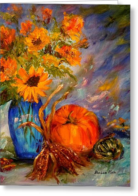 Autumn Impressions Greeting Card by Barbara Pirkle