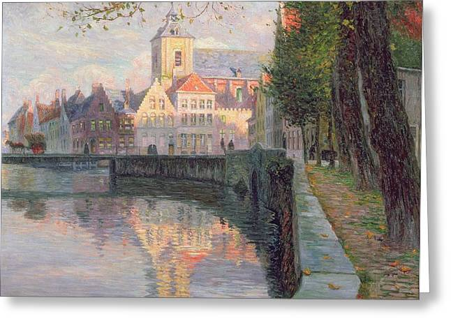 Autumn in Bruges Greeting Card by Omer Coppens