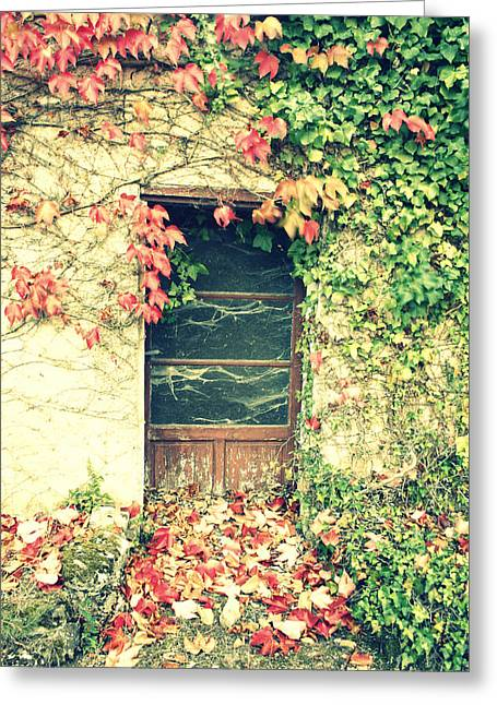 Abandoned Houses Greeting Cards - Autumn in France Greeting Card by Nomad Art And  Design
