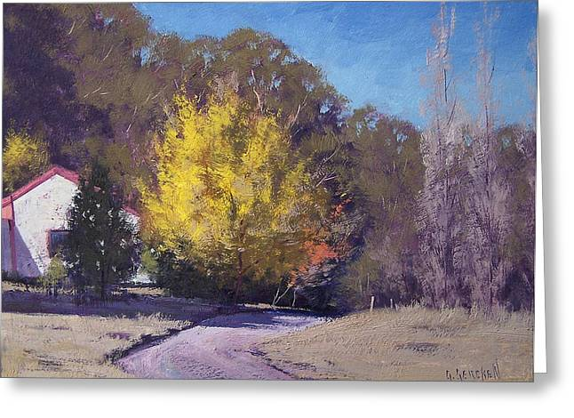 Fall Trees Greeting Cards - Autumn in Lithgow Greeting Card by Graham Gercken