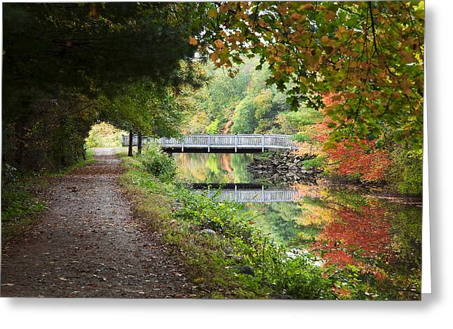 Autumn In New England Greeting Card by Jenna Szerlag