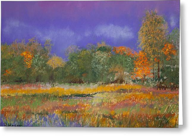 Fall Colors Pastels Greeting Cards - Autumn in Nisqually Greeting Card by David Patterson
