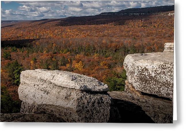 Shawanagunk Mountains Greeting Cards - Autumn in the Gunks Greeting Card by Jim DeLillo