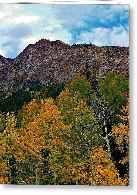 Sceneci Photography Greeting Cards - Autumn in the Mountains Greeting Card by Bruce Bley