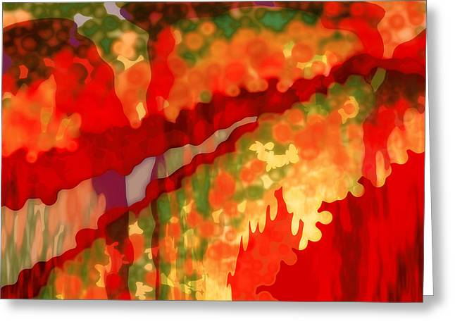 Digita Art Greeting Cards - Autumn in the Piedmont Greeting Card by Patricia L Conklin
