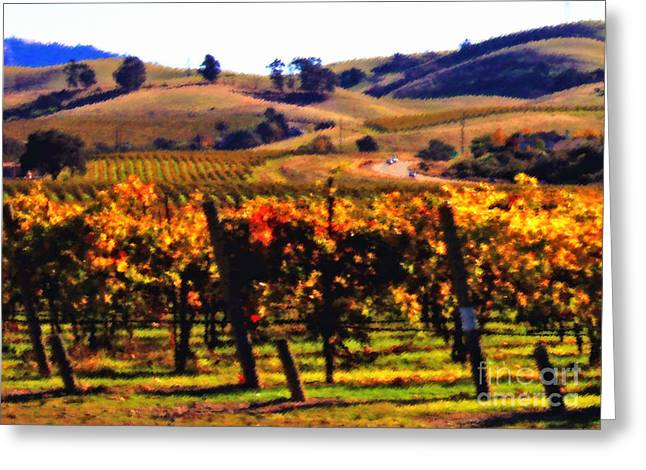Livermore Greeting Cards - Autumn in the Valley 1 - Digital Painting Greeting Card by Carol Groenen