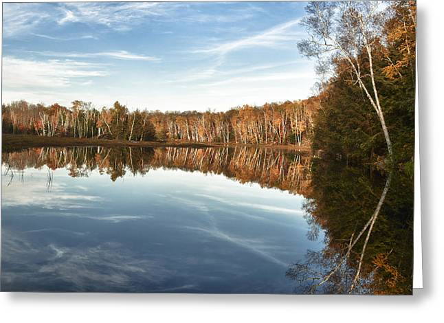 Ontario Greeting Cards - Autumn Lake 3 Greeting Card by Frank Iusi