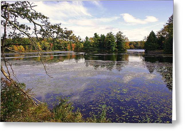 Leaf Peepers Greeting Cards - Autumn Lake Greeting Card by David Rucker