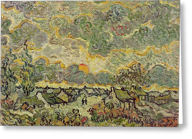 Saint-remy De Provence Greeting Cards - Autumn Landscape Greeting Card by Vincent Van Gogh