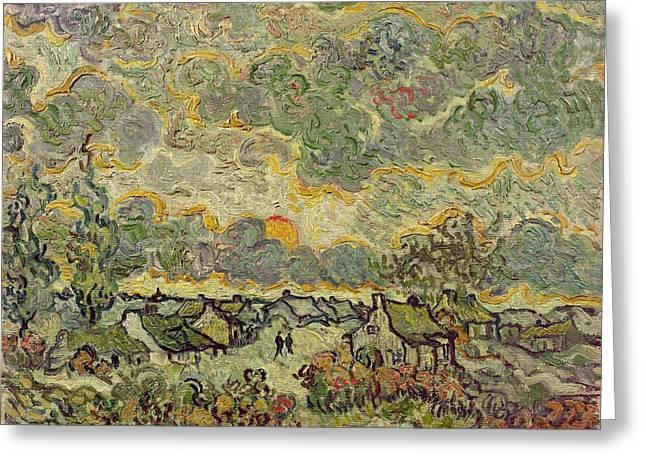 Autumn Landscape Greeting Card by Vincent Van Gogh