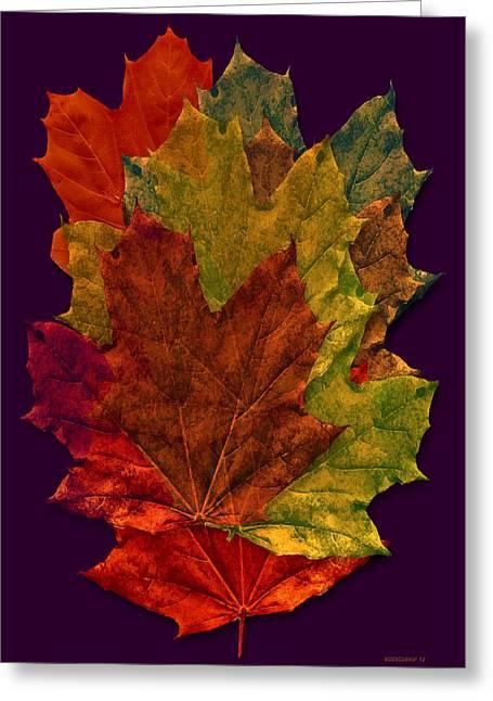 Fantasy Greeting Cards - Autumn Leafs Digital Art Greeting Card by Mario  Perez