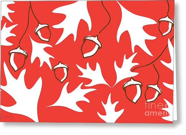 Red Leaves Digital Greeting Cards - Autumn Leaves Greeting Card by HD Connelly