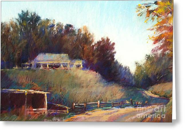 Autumn Light Greeting Card by Pamela Pretty