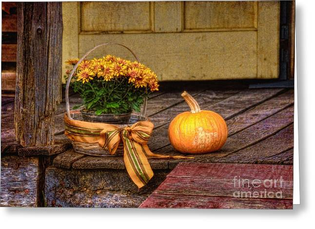 Bedford Greeting Cards - Autumn Greeting Card by Lois Bryan